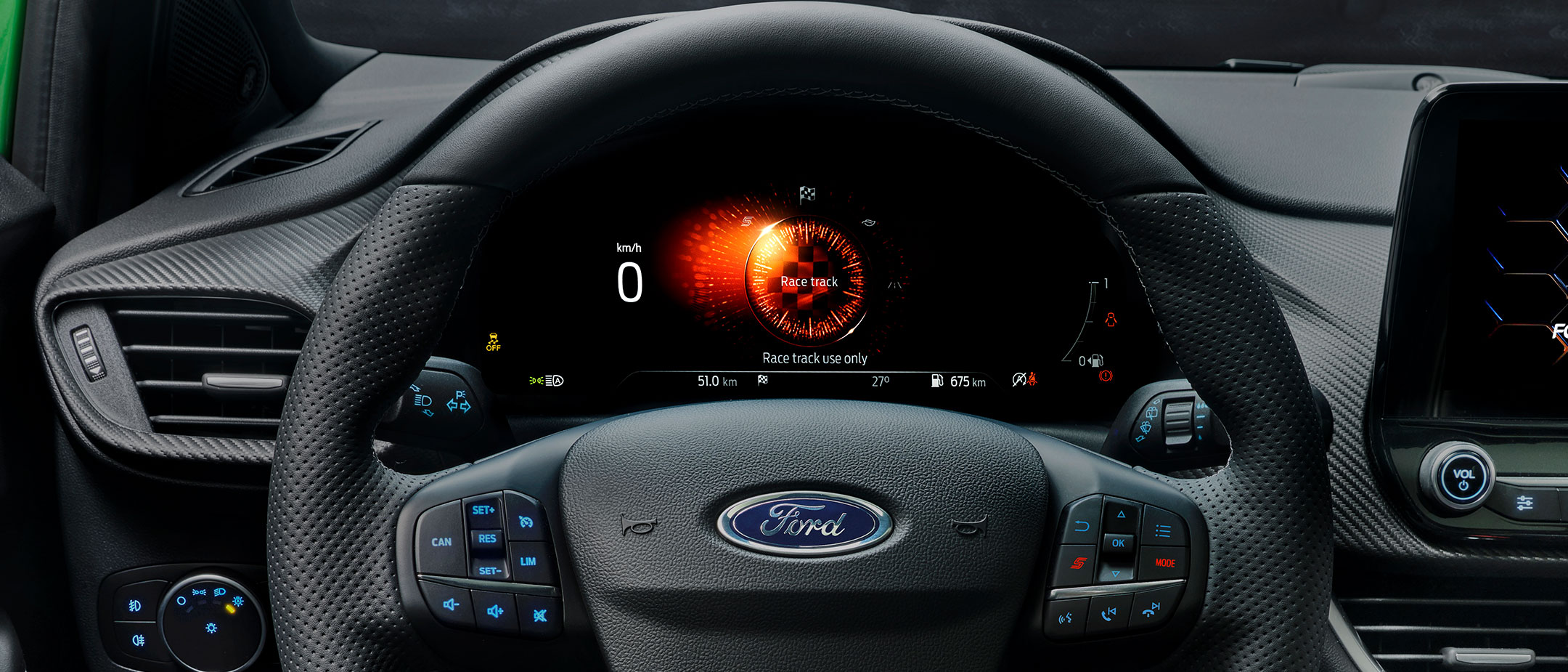 Ford Puma ST dashboard showing drive modes